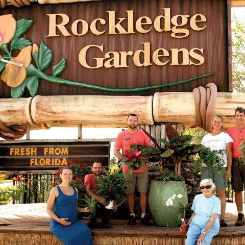 Riley family at Rockledge Gardens